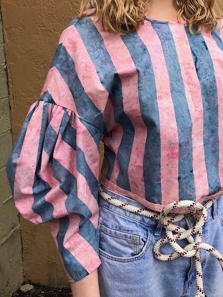 Kate Towers lil' puff blouse - bubblegum stripe