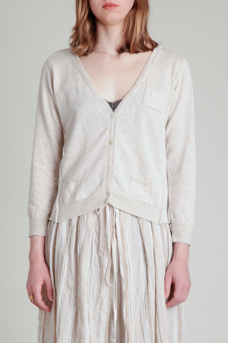 Moskiddos Fitted Little Cardigan - Oatmeal