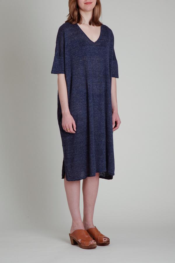 CT Plage Linen Drape Dress