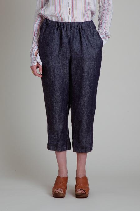 Fog Linen Work Elastic Waist Linen Pants