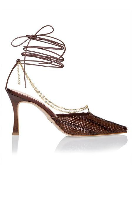 Brother Vellies Woven Olivia Pump - Espresso Brown