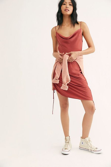 Free People Pink Day To Night Slip Dress