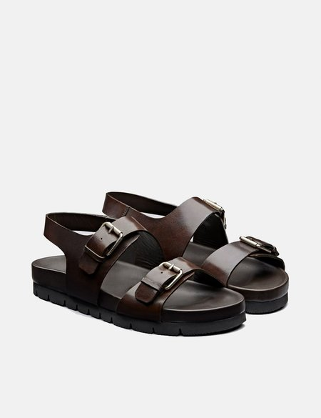 Grenson Lennox Sandal - Dark Brown