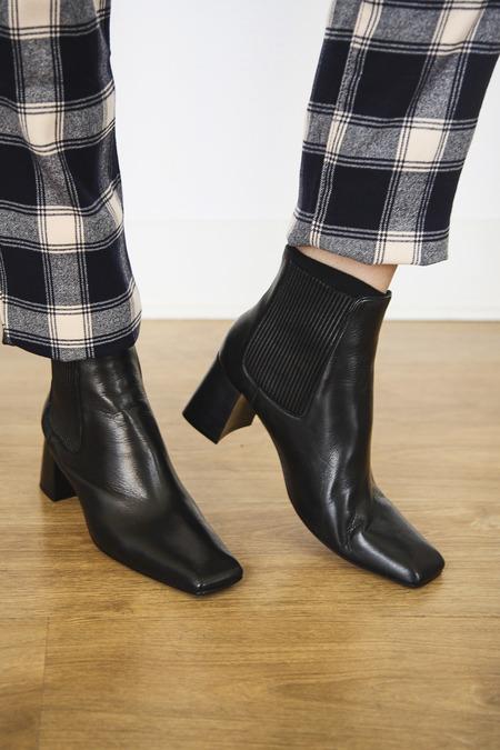 Miista Beta Napa Leather Boots - Black