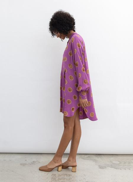 Seek Collective Sonia Dress - orchid polka dot