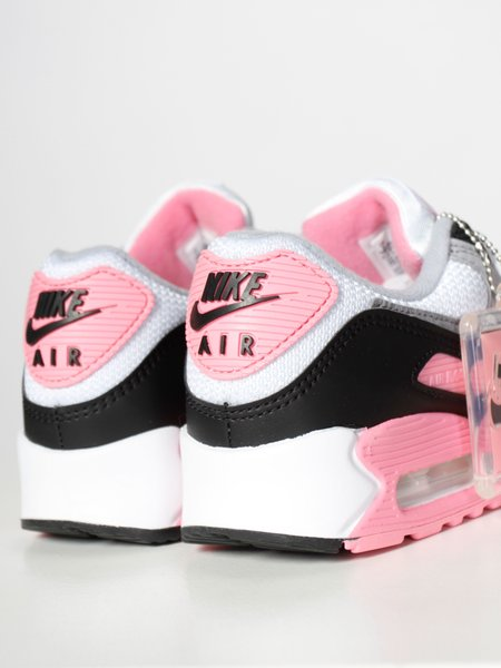 Nike W Air Max 90 Trainer - White/Particle Grey/Rose/Black