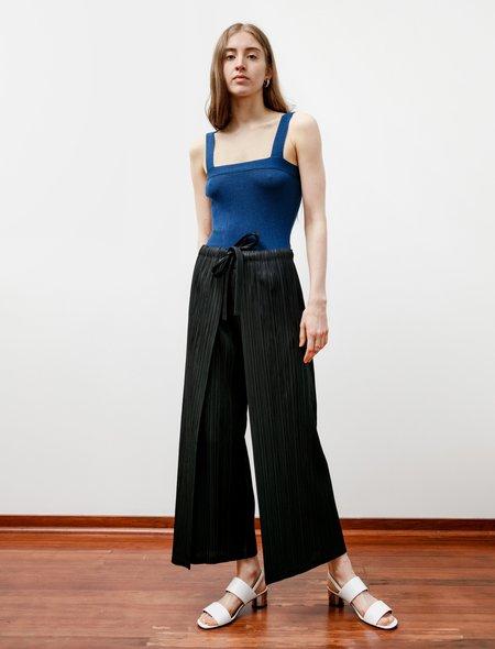 Pleats Please Wrap Front Thicker Pants - Black