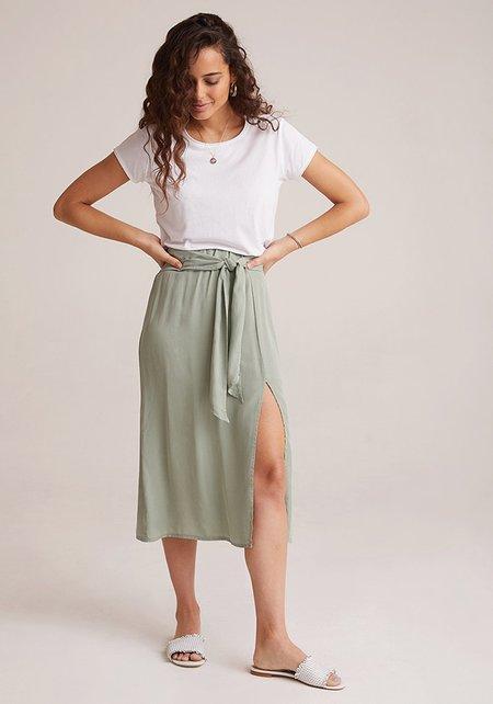 Bella Dahl Bias Midi Skirt - olive grove