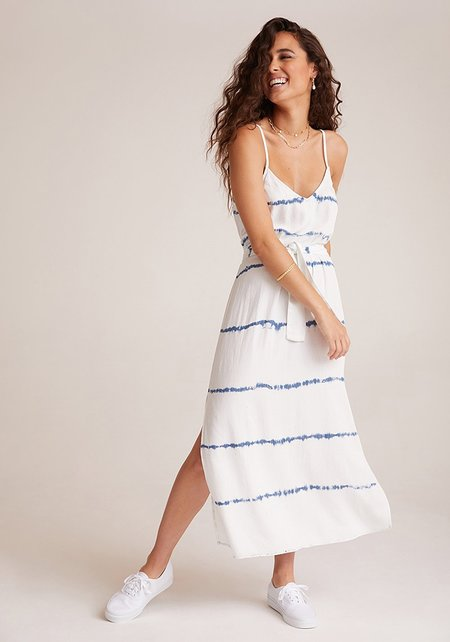 Bella Dahl Smoked Waist Maxi Dress - Indigo / White out