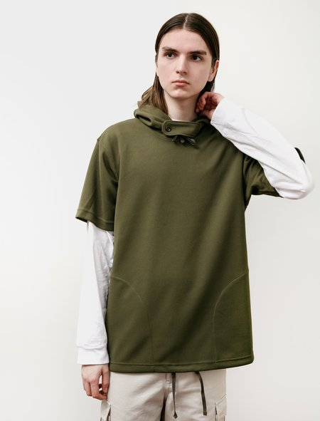 Engineered Garments Short Sleeve Hoody - Olive