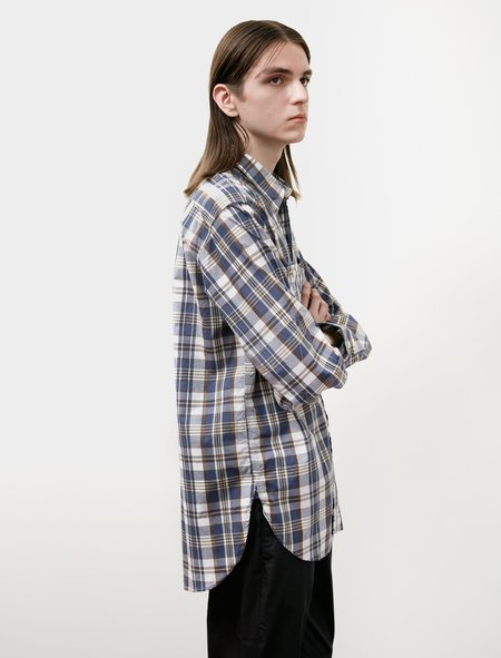 Engineered Garments Work Shirt - Navy / Brown Plaid