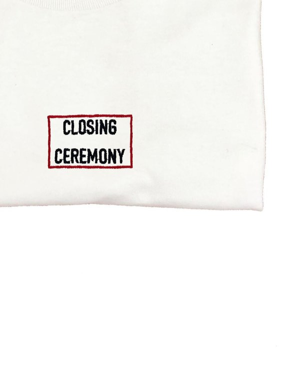 House of 950 embroidery closing ceremony tee shirt