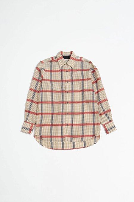 Marni Checked shirt - brown/red