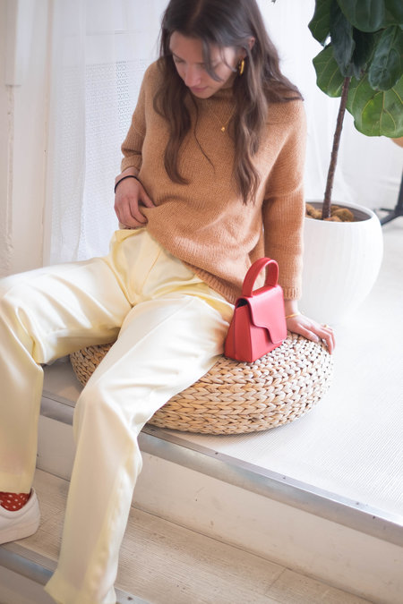 CLAUDIA LI Silk Trousers - Pale Yellow