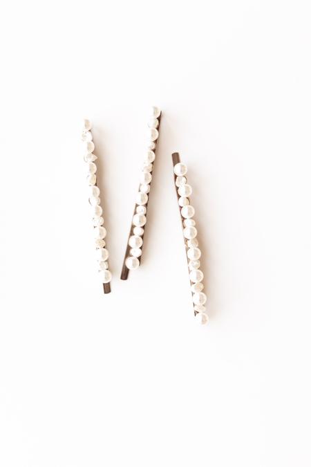 A. B. Ellie Baroque Pearl Bobbies - 14K Gold