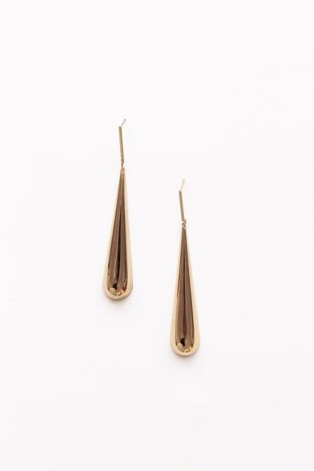 A. B. Ellie Svelt Teardrop Earrings - 14K Gold