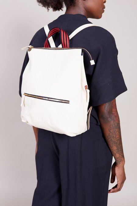 Clare V. Remi Backpack - White