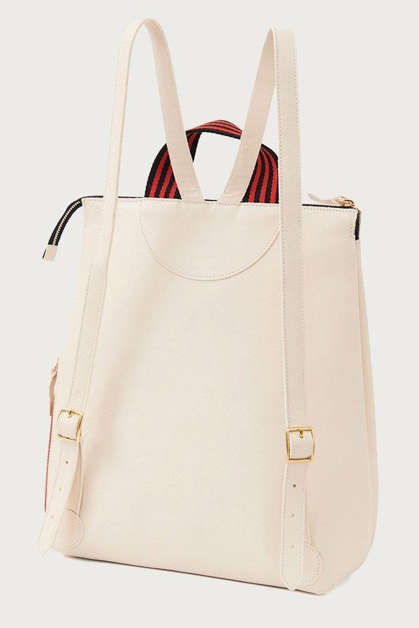 Clare V. Remi Backpack - White