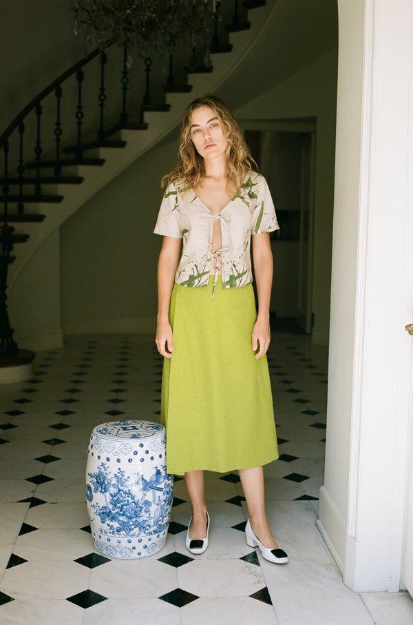Lisa Says Gah Linen Cotton Capri Top - Floral