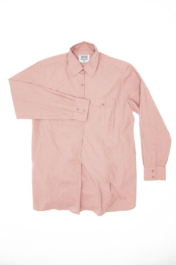 Dushyant Asthana The Kameez Oversized Garment Dyed Shirt - Cameo Pink