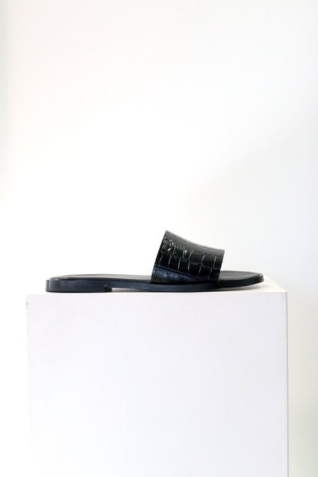 Sister x Soeur Bella Slide - Black Croco