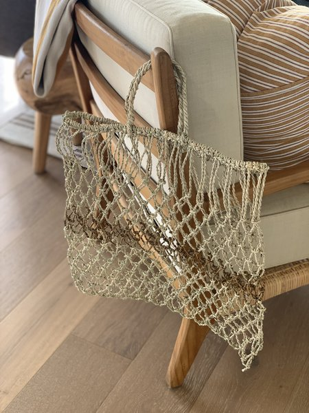 Domecíl Striped Woven Pilwas Tote Bag