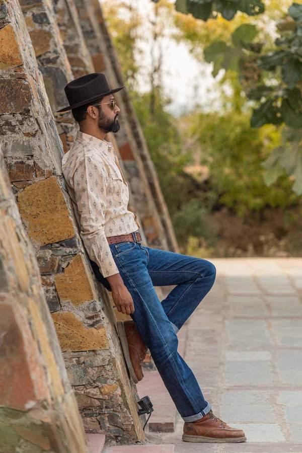 Dushyant Asthana Hand-Printed The Barrington Full Sleeve Shirt - Nomad Print