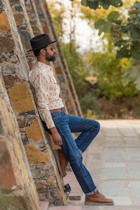 Dushyant Asthana Hand-Printed The Barrington Full Sleeve Shirt - Nomad Print