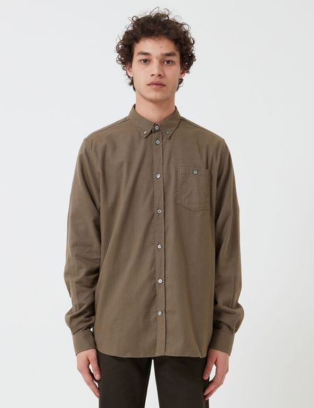 Norse Projects Anton Flannel Shirt (Brushed Cotton) - Beech Green