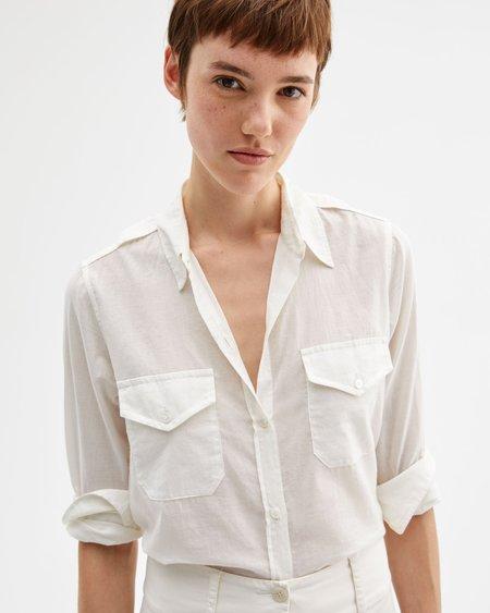 Nili Lotan Athena Shirt - IVORY
