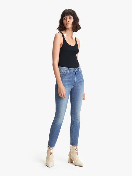 Mother Denim High Waisted Looker Ankle Fray - WANDER LUST