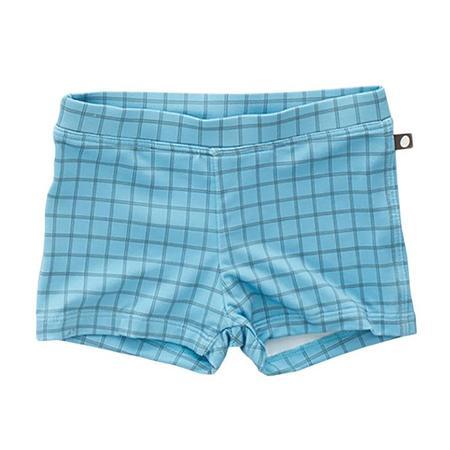 Oeuf NYC Oeuf Baby And Child Swim Shorts Blue Check Print