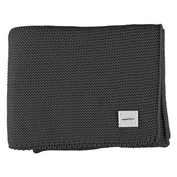 kids Pequeno Tocon Bobo Knit Blanket - Dark Grey