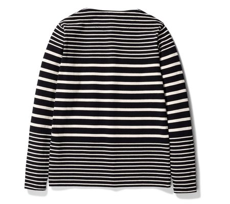 Norse Projects Godtfred Classic Compact LS T-shirt - Black Stripe
