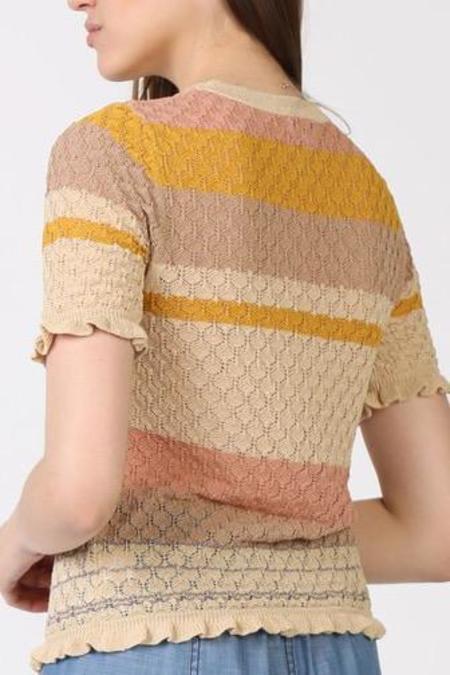 Current Air Delaney Short Sleeve Sweater - Multi Stripe