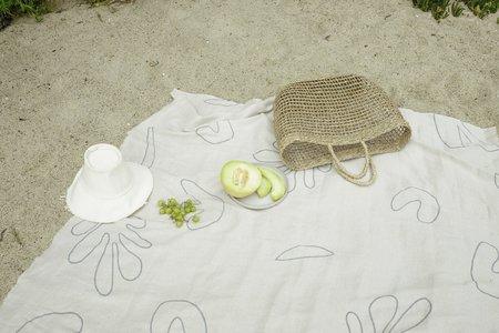 Kesslyr Dean Henri Block Print Linen Throw Blanket
