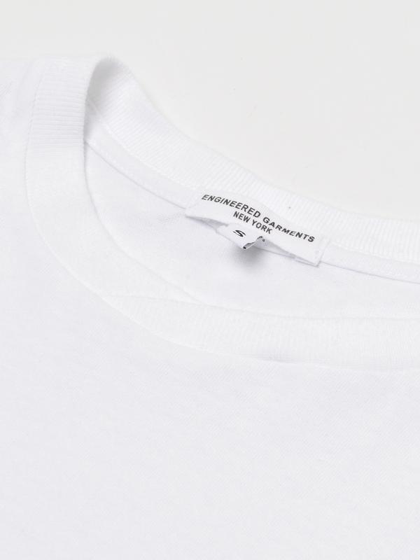 Engineered Garments PRINTED CROSS CREW NECK T-SHIRT - WHITE/VERNON |  Garmentory
