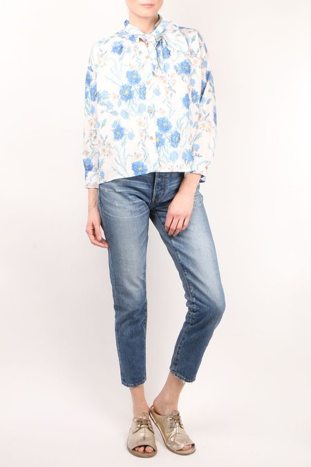 Caron Callahan Daisy Poppy Shirt - White Floral
