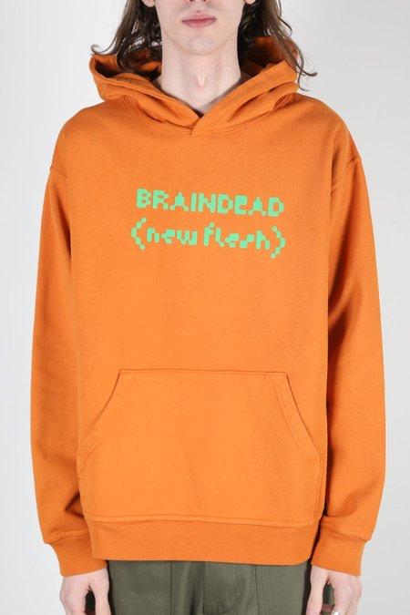 Brain Dead NEW FLESH SWEATSHIRT - Orange