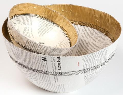Quazi Paper Gold Bowl