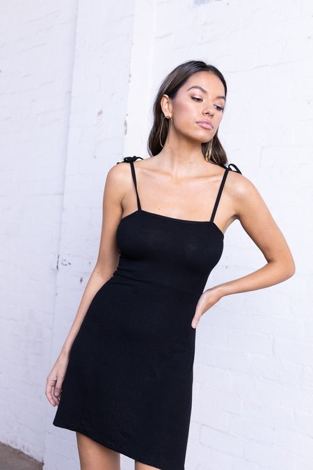 Bayse Tie Up Dress in Black