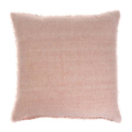 Indaba Lina Linen Pillow - Peach Orange