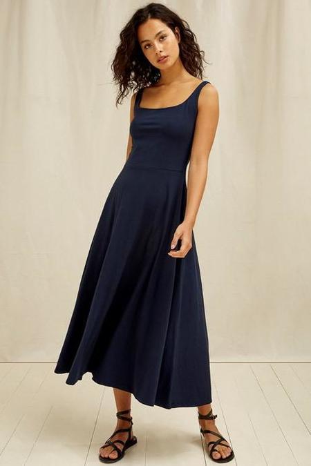 Assisi Tyra Knit Midi Dress - Black