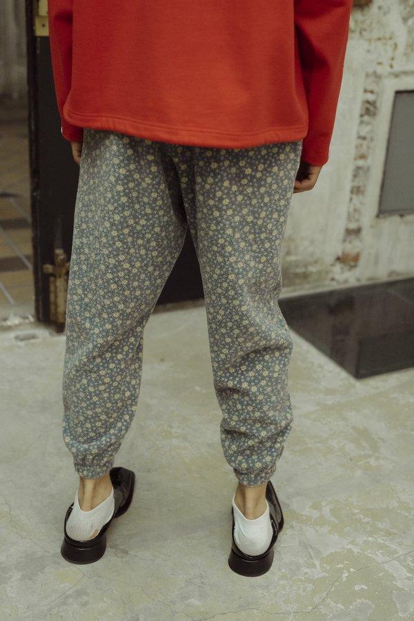 Martine Rose Bunny Fleece Track Pant - Black Daisy