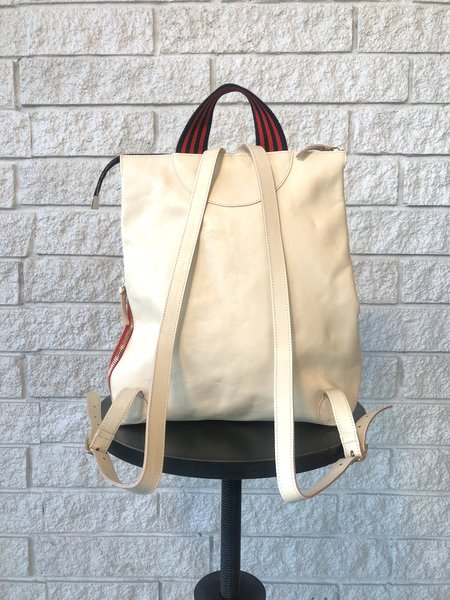 Clare V. REMI BACKPACK - WHITE RUSTIC