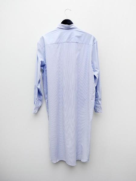 Baserange Ole Shirt Dress - Black/White Stripe