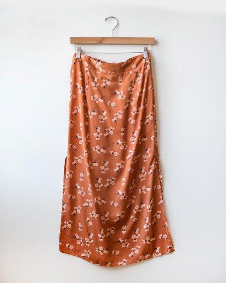 Saltwater Luxe Gia Midi Skirt Clay