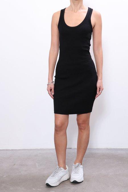John Elliott Cotton Rib Dress - Black
