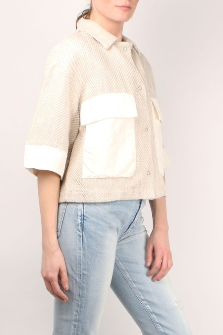 Transit Par Such Crop Jacket W/ Pocket - Chalk
