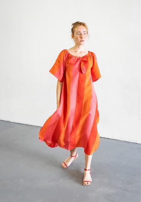 MARA HOFFMAN KAMALA DRESS - RED MULTI